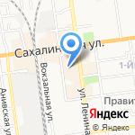 Бубль Гум на карте Южно-Сахалинска