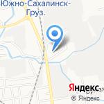 Мотолог на карте Южно-Сахалинска