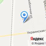 Идеал-Строй на карте Южно-Сахалинска