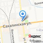 Брест на карте Южно-Сахалинска