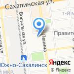 Красная шапочка на карте Южно-Сахалинска