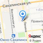 Мастер-Град на карте Южно-Сахалинска
