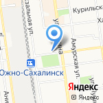 Атое на карте Южно-Сахалинска