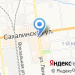 Силуэт на карте Южно-Сахалинска