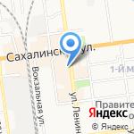 Связной на карте Южно-Сахалинска