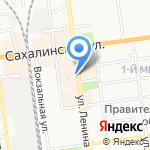Модный базар на карте Южно-Сахалинска