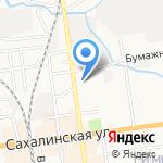 Средняя общеобразовательная школа №11 на карте Южно-Сахалинска