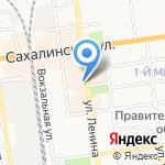 Арбат на карте Южно-Сахалинска