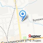 Юрбус на карте Южно-Сахалинска