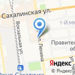 Банк Итуруп на карте Южно-Сахалинска