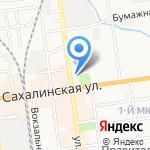 Гринкофе на карте Южно-Сахалинска