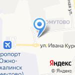 Круиз на карте Южно-Сахалинска