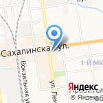 Парикмахерский магазин на карте Южно-Сахалинска