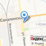Валентина на карте Южно-Сахалинска