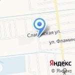 Чемансу А.П. на карте Южно-Сахалинска