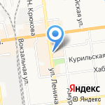 Служба оперативного обеспечения диспетчерской связи на карте Южно-Сахалинска