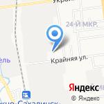 Ханаан на карте Южно-Сахалинска