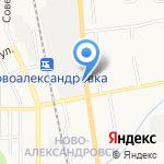 Перекресток на карте Южно-Сахалинска