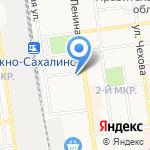 Кагами на карте Южно-Сахалинска