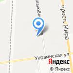 Муравей на карте Южно-Сахалинска