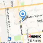 Сахалинский областной Художественный музей на карте Южно-Сахалинска