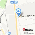Магазин продуктов на карте Южно-Сахалинска