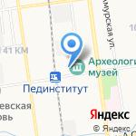 Амбрелла на карте Южно-Сахалинска