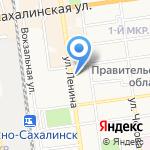 Отдел вневедомственной охраны Управления МВД России по Сахалинской области на карте Южно-Сахалинска