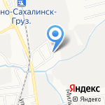 Амальтея на карте Южно-Сахалинска