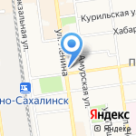 Дальневосточная железная дорога на карте Южно-Сахалинска