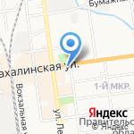 Социальная на карте Южно-Сахалинска