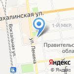 Сахалинская областная универсальная научная библиотека на карте Южно-Сахалинска