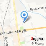 ОГИБДД УМВД России по г. Южно-Сахалинску на карте Южно-Сахалинска