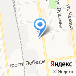 Азурит на карте Южно-Сахалинска