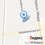 Три гнома на карте Южно-Сахалинска