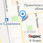 Дальневосточник на карте Южно-Сахалинска