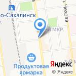Централизованная библиотечная система на карте Южно-Сахалинска