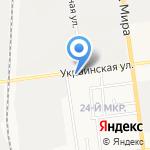 Красной молоток на карте Южно-Сахалинска