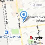 КВЦ-Трейд на карте Южно-Сахалинска