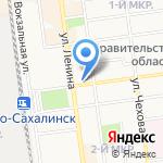 Цветочный магазин на карте Южно-Сахалинска