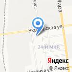 Карьер Охотский на карте Южно-Сахалинска