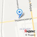 Автоколонна 1407 на карте Южно-Сахалинска