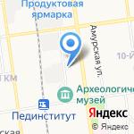 Сахалинский государственный университет на карте Южно-Сахалинска