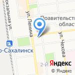 Сахалин-Приамурские ведомости на карте Южно-Сахалинска