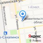 Пожарная часть №1 на карте Южно-Сахалинска