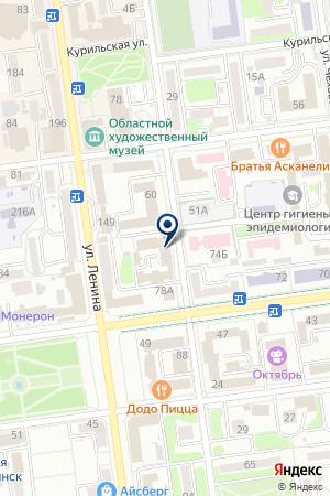 ТВОРЧЕСКОЕ ОБЪЕДИНЕНИЕ МИНИСТЕРСТВО ПРАЗДНИКОВ на карте Южно-Сахалинска