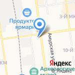 Лидия на карте Южно-Сахалинска