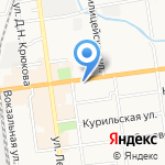 Эрудит на карте Южно-Сахалинска