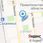 Парильня на карте Южно-Сахалинска