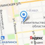 Дальневосточный банк на карте Южно-Сахалинска